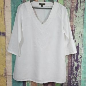 Tommy Bahama LINEN Embroidered Tunic S/P